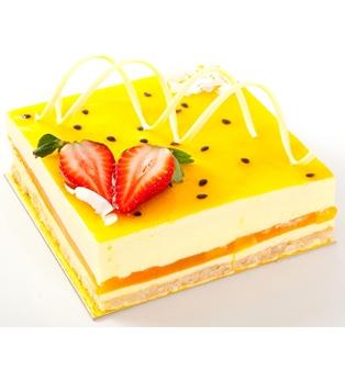 Passion fruit and mango cake -  15cm x 17cm - serves 10 thumbnail