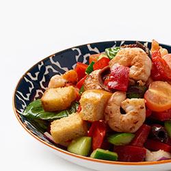 Sauteed prawn panzanella salad thumbnail