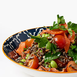 Wild rice and smoked salmon salad thumbnail