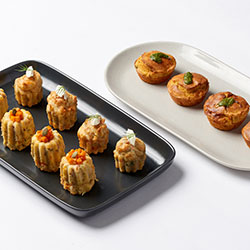 Trio mini savoury muffins selection thumbnail