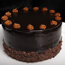 Caramello round cake thumbnail