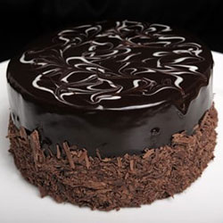 Dark chocolate mud round cake thumbnail