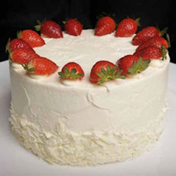 Strawberry round cake thumbnail