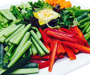 Vegetable crudites and dip platter thumbnail