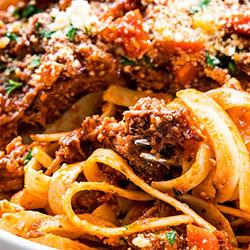 Fettucine with veal ragu thumbnail