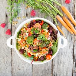 Quinoa with pumpkin salad thumbnail