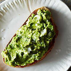 Woodfire toasted bread with guacamole thumbnail
