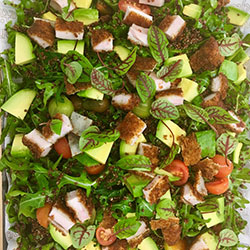 Chicken, avocado, kale and rocket salad thumbnail