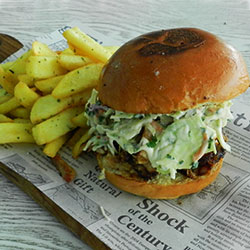 Chicken and slaw burger thumbnail