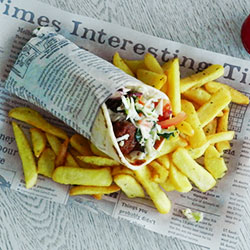 Gyros and chips platter - serves 10 thumbnail