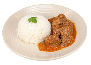 Beef rendang with jasmine rice thumbnail