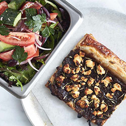 Gourmet tart with our village salad thumbnail