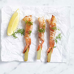 Proscuitto wrapped king prawn thumbnail
