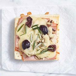 Homemade gourmet pizza slice thumbnail
