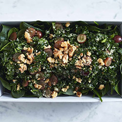 Kale, quinoa, grape and walnut salad thumbnail