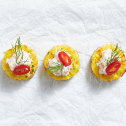 Corn and coriander cakes thumbnail