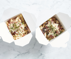 Penne with gourmet mushrooms and speck thumbnail