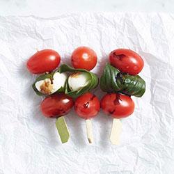 Cherry tomato, bocconcini and basil skewer thumbnail