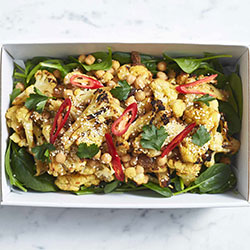 Moroccan cauliflower and chickpea salad thumbnail