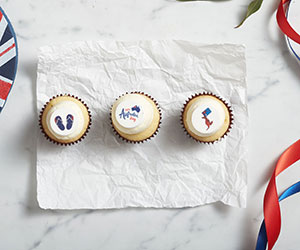 Australia Day cupcake - mini thumbnail
