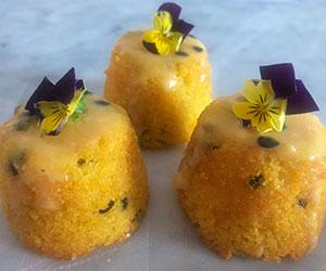 Passionfruit polenta babycakes thumbnail