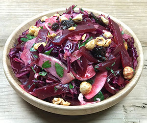 Pickled beetroot and red cabbage salad thumbnail