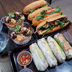 Box 7 - Vegetarian Trifecta Box - Banh Mi / rice paper rolls / salad thumbnail