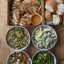 Portuguese chicken and salad platter thumbnail