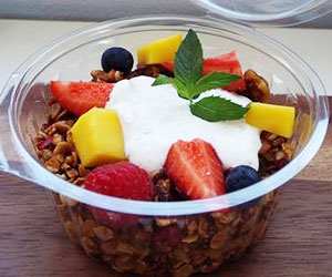 Home made granola with fruits and yoghurt - 250ml thumbnail