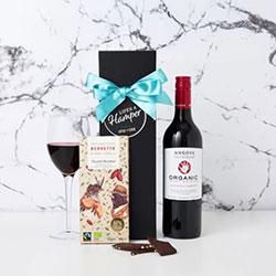 Organic Red Wine and Chocolate Hamper thumbnail