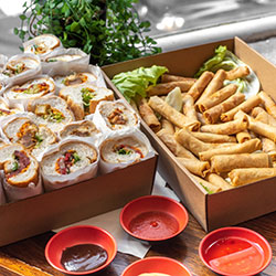 Spring roll and bahn mi platter thumbnail