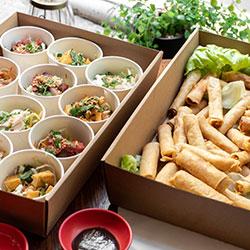 Spring roll and Vietnamese slaw platter thumbnail