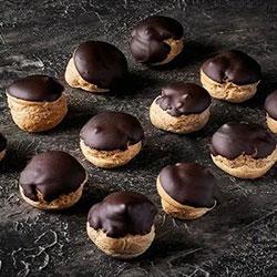 Dark chocolate profiteroles thumbnail