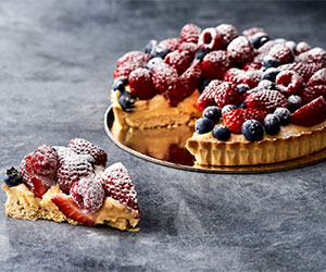 Fresh triple berry tart thumbnail