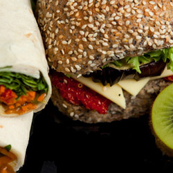 Wraps, rolls and fruit platter thumbnail