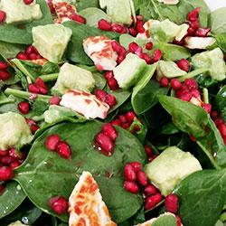 Haloumi, avocado and pomegranate salad thumbnail