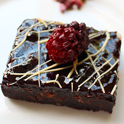 Blueberry and fudgy chocolate brownie thumbnail