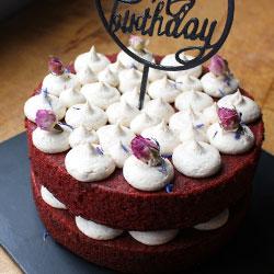 Red velvet 6 inch cake thumbnail