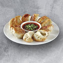 Pan fried pork dumplings thumbnail