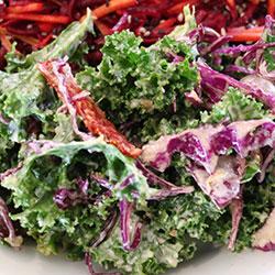 Tahini kale salad thumbnail