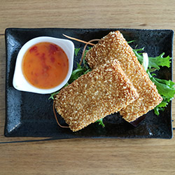 Sesame prawn on toast thumbnail