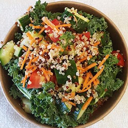 Kale and quinoa salad thumbnail