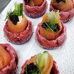 Smoked salmon and dill cup thumbnail