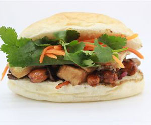 Vegetables with cashew nut banh mi - mini thumbnail