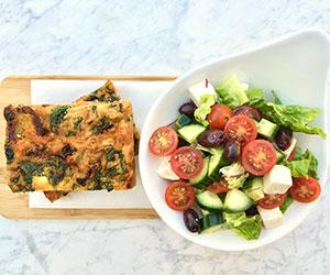 Frittata and greek salad  thumbnail