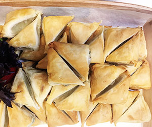 Spinach and feta cheese filo pastry thumbnail