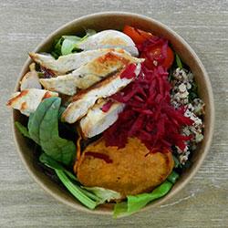 Chicken quinoa salad thumbnail