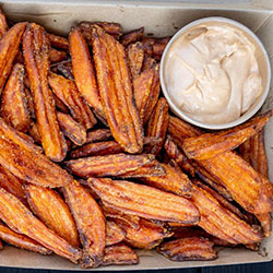 Sweet potato wedges box - serves 7 thumbnail