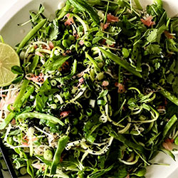 Soba noodle salad with stir fried greens thumbnail