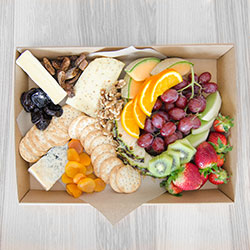 Deluxe cheese and fruit platter thumbnail